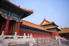 Pavilion at Forbidden City Stock Photography