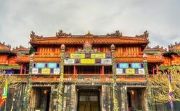 Pavilion at the Forbidden City in Hue, Vietnam. Pavilion at the Forbidden City in Hue. UNESCO world heritage in Vietnam stock photos