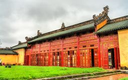 Pavilion at the Forbidden City in Hue, Vietnam. Pavilion at the Forbidden City in Hue. UNESCO world heritage in Vietnam royalty free stock images
