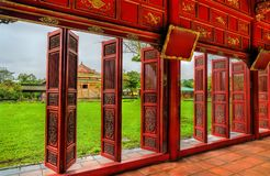 Pavilion at the Forbidden City in Hue, Vietnam. Pavilion at the Forbidden City in Hue. UNESCO world heritage in Vietnam royalty free stock photo