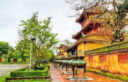 Pavilion at the Forbidden City in Hue, Vietnam. Pavilion at the Forbidden City in Hue. UNESCO world heritage in Vietnam royalty free stock photos