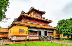 Pavilion at the Forbidden City in Hue, Vietnam. Pavilion at the Forbidden City in Hue. UNESCO world heritage in Vietnam royalty free stock image