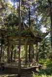 Pavilion in the forest,  Yunnan, China royalty free stock images