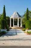 Pavilion in garden with blue sky Royalty Free Stock Images