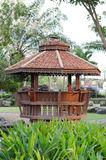 Pavilion in the garden Stock Photo