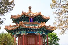 The pavilion and gazebo Vancomycin of The Jingshan Park in the capital of China Beijing. royalty free stock photo