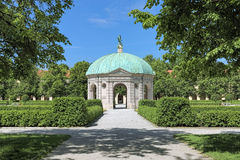 Pavilion for the goddess Diana in Hofgarten garden of Munich, Germany. Dianatempel pavilion for the goddess Diana in Hofgarten garden of Munich, Germany. The Royalty Free Stock Image