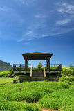 Pavilion on the grassland Stock Photography