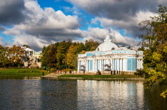 Pavilion Grotto and Cameron Gallery in autumn Royalty Free Stock Images