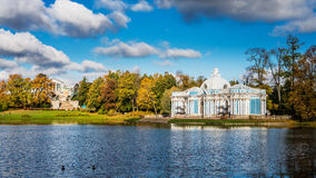 Pavilion Grotto and Cameron's Gallery in autumn Royalty Free Stock Image