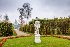 Pavilion Grotto in the Catherine Park in Pushkin in autumn. Royalty Free Stock Photo