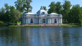 Pavilion `Grotto`, Sunny may day. Tsarskoye Selo, Saint Petersburg. SAINT PETERSBURG, RUSSIA - MAY 29, 2018: Pavilion `Grotto`, Sunny may day. Catherine Park of stock video footage