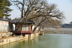 pavilion of Gyeonghoeru pond Royalty Free Stock Image