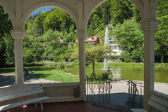 Pavilion in the health resort park in Bad Liebenzell Stock Photos