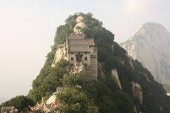 Pavilion at Hua Shan Mountain in China Stock Image