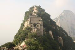Pavilion at Hua Shan Mountain in China Stock Image