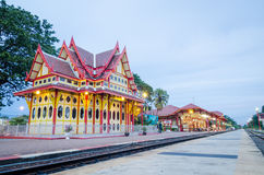 Pavilion at HUAHIN station. Royalty Free Stock Image