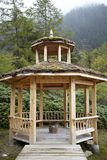 Pavilion in Huanglong Scenic Area Royalty Free Stock Photography