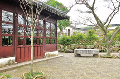 Pavilion in Humble Administrator's Garden. Humble Administrator's Garden is the representative works of Chinese Jiangnan classical garden.In 1997 was approved by royalty free stock images