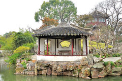 Pavilion in Humble Administrator's Garden. Humble Administrator's Garden is the representative works of Chinese Jiangnan classical garden.In 1997 was approved by royalty free stock photos