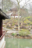 Pavilion in Humble Administrator's Garden. Humble Administrator's Garden is the representative works of Chinese Jiangnan classical garden.In 1997 was approved by royalty free stock image