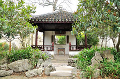 Pavilion in Humble Administrator's Garden. Humble Administrator's Garden is the representative works of Chinese Jiangnan classical garden.In 1997 was approved by royalty free stock photography