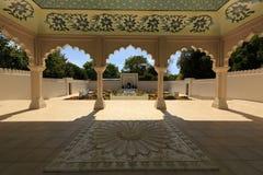 A pavilion in the Indian Char Bagh garden, Hamilton Gardens, Hamilton, New Zealand royalty free stock image