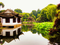 Pavilion inside Guyi garden Royalty Free Stock Images