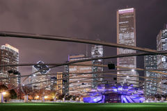 Pavilion Jay Pritzker at the entrance to the Millennium Park. In Chicago Stock Photography