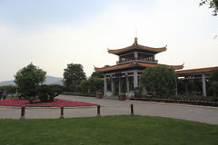 Pavilion in juzizhoutou park Stock Photography