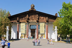 Pavilion Karelia of VDNH,  Moscow. Russia Royalty Free Stock Photography
