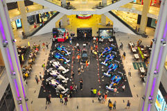 Pavilion Kuala Lumpur showcases Formula 1 cars. Pavilion KL bringing Formula 1 cars and simulators for heating up the Malaysia F1 Grand Prix in conjunction with Royalty Free Stock Photos
