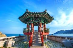 Pavilion in korea. Pavilion with blue sky in korea Stock Photography