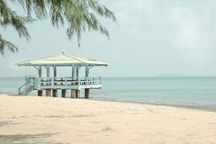 Pavilion on Laem Singh beach Chantaburi province,Thailand Stock Photography