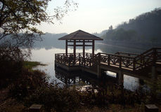 Pavilion in a lake Stock Photography