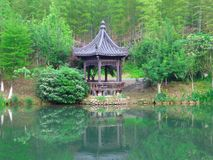 A pavilion at the lake Royalty Free Stock Image