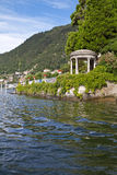 Pavilion at Lake Como, Italy Stock Photo