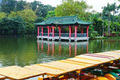 Pavilion in lake Royalty Free Stock Photos