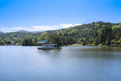 Pavilion in the lake at summer Royalty Free Stock Photography
