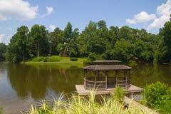 Pavilion beside a lake Stock Photo