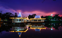 Pavilion on the lake Royalty Free Stock Images