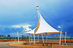 The pavilion lakeside Royalty Free Stock Images