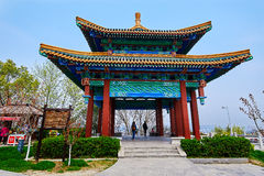 The pavilion of looking river of Sun Zhongshan Stock Image