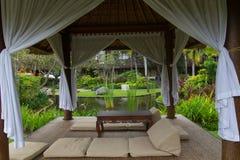 Pavilion in luxury resort Royalty Free Stock Image