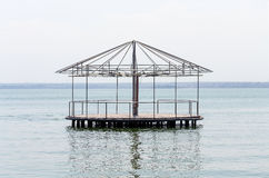 Pavilion in the middle of a lake Royalty Free Stock Image