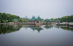 Pavilion at east lake in Wuhan Hubei China Royalty Free Stock Photo