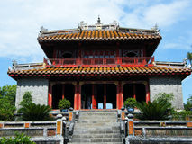 Pavilion at Minh Mang Emperor Tomb in Hue, Vietnam. Pavilion at Minh Mang Emperor Royal Tomb in Hue, Vietnam royalty free stock photography