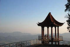 The pavilion on mountain Royalty Free Stock Photo