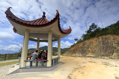 Pavilion on the mountain Stock Images