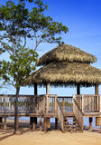 Pavilion in natural style on a beach Royalty Free Stock Photo